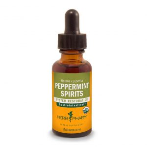 Herb Pharm Certified Organic Peppermint Spirits Liquid Extract - 4oz.